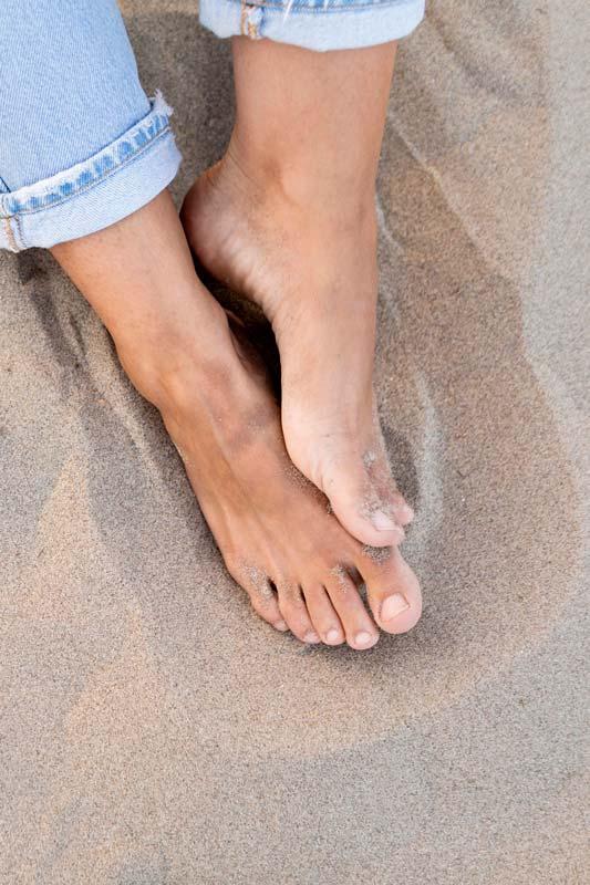 Piedi nella sabbia